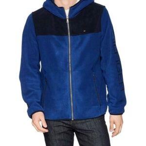 Tommy Hilfiger Logo Fleece Hooded Jacket hoodie XL